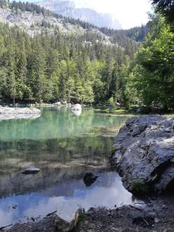 Lac vert Passy Plaine Joux