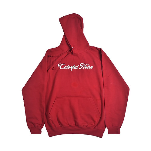 Red Colorful Noise Hoodie