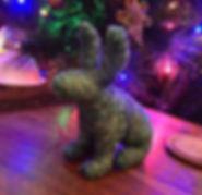 blue textile hare