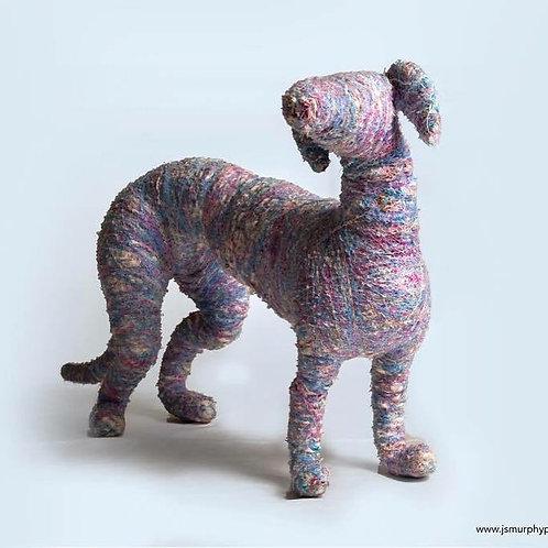 Purple Faux Taxidermy Greyhound