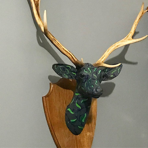 Faux Deer Head - Collaboration with Joanne Humphreys