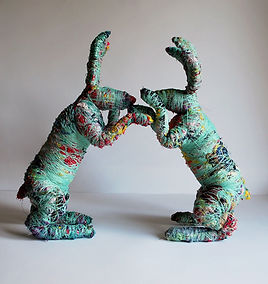 textile boxing hares