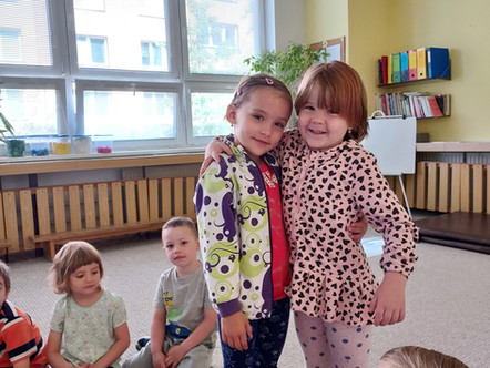 Oslava narozenin ve třídě Sluníčko
