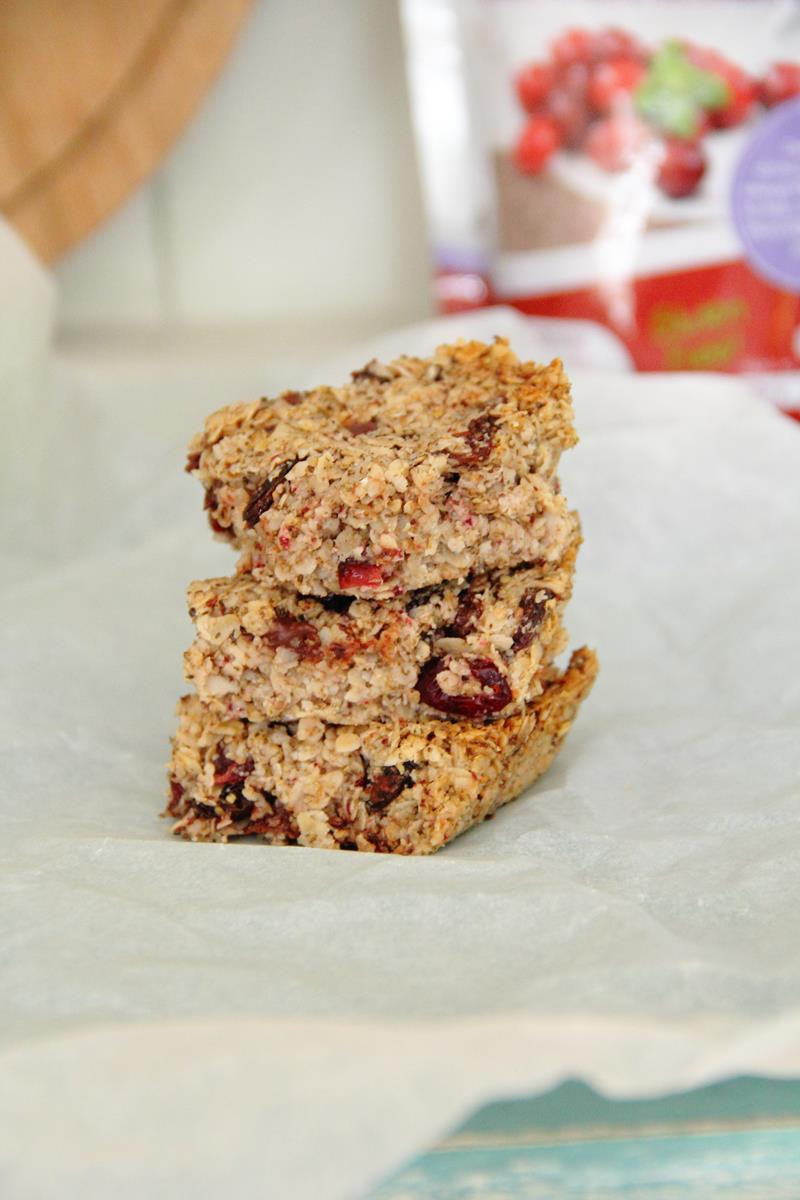 Cranberry and chia seed flapjacks