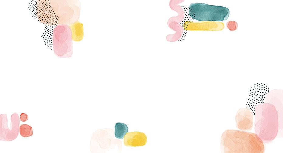 抽象的な水彩画の描画
