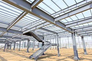 The steel structure, is under constructi