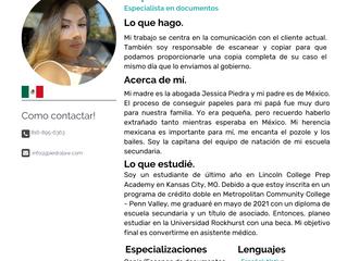 Equipo: Raquel Piedra, Especialista en documentos