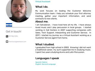 Staff: Francisco Mendoza, Virtual Assistant
