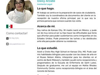 Equipo: Daisy Arzate,  Asistente Legal