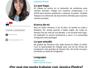 Equipo: Karina Kelly-Jiménez, Asistente Virtual