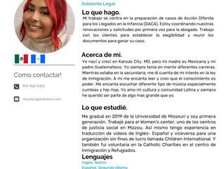 Equipo: Mayela Urizar, Asistente Legal