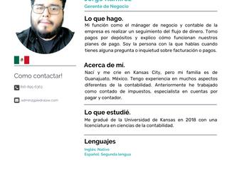 Equipo: Jorge Ramírez, Gerente de Negocio