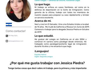 Equipo: Dania Vargas, Gerente de Oficina, Asistente Legal