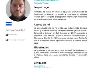 Equipo: Francisco Mendoza, Asistente Virtual