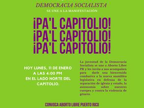Manifestación y recibimiento: ¡Pa'l Capitolio!