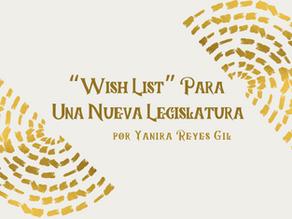 """Wish list"" para una nueva legislatura"