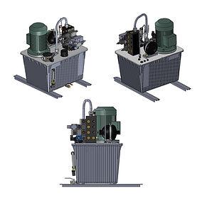 Etude 3D de groupe hydraulique | COMATEL