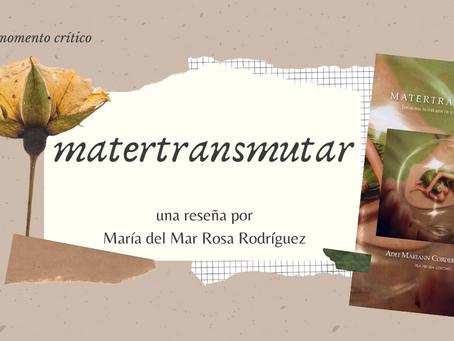 MATERTRANSMUTAR: memoria novelada de un diario testimonial