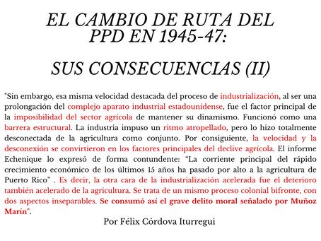 El cambio de ruta del PPD en 1945-47: sus consecuencias (II)