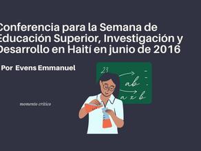 Conferencia para la Semana de Educación Superior, Investigación y Desarrollo en Haití