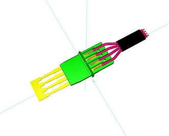 Etude de connecteur surmoulé | COMATEL  | connectique surmoulée