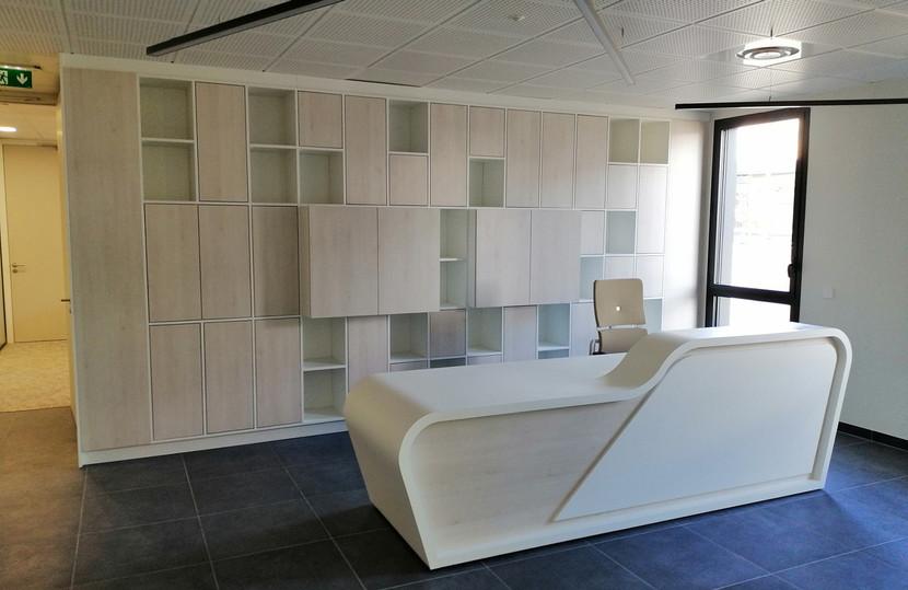 Mobilier Bois Design_Banque d'accueil Entreprise_2