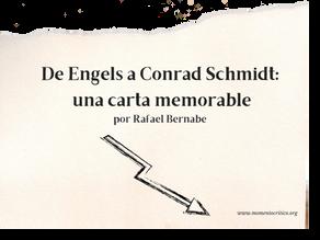 De Engels a Conrad Schmidt: una carta memorable