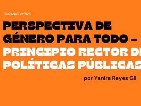 Perspectiva de género para todo – principio rector de políticas públicas