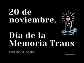 20 de noviembre, Día de la Memoria Trans