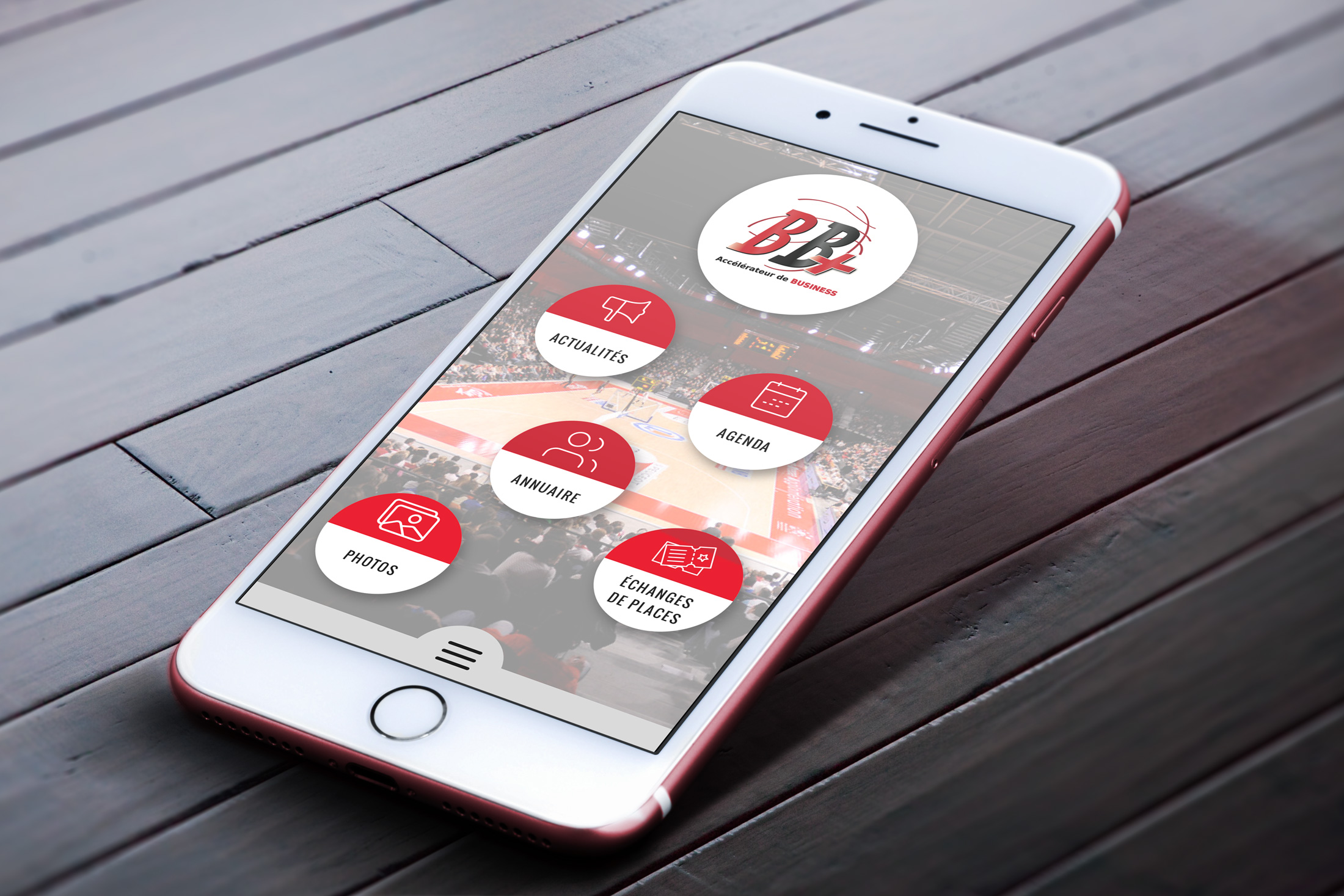 Application mobile JL Bourg Basket Anura