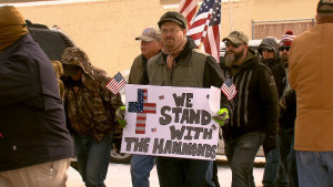 Pro-Hammond protest in Burns, Oregon. KOIN photo