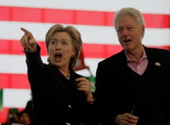 Hill and Bill retool. (Photo by Joe Raedle/Getty Images)