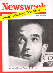 Murrow on the cover of Newsweek in 1954