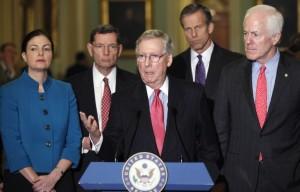 Senate GOP Leadership: Waiting for Trump