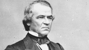 Andrew Johnson, a genuinely racially divisive president.
