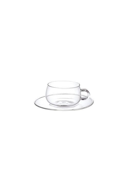 KINTO Unitea Glass Cup + Saucer