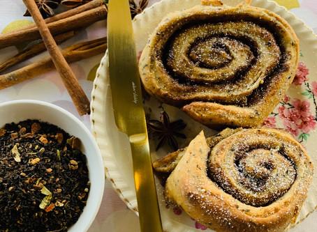 Vegan 'Chookas Chai' Infused Cinnamon Scrolls