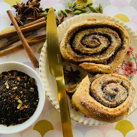 Vegan 'Chookas Chai' Infused Cinnamon Scrolls
