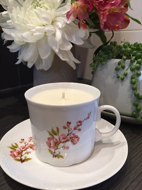 Romania - Vintage Teacup Candle