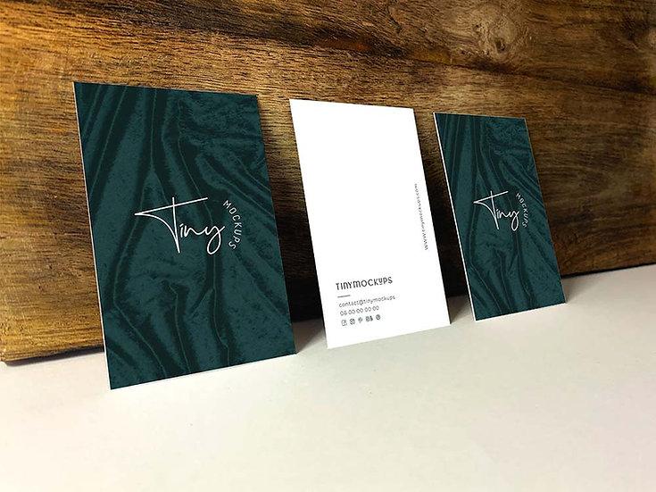 Mockup Triple cartes de visite