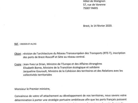 Soutien à l'inscription du port de Brest-Roscoff dans le corridor maritime européen Atlantique.