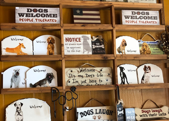 Porcelain and Wooden Signs