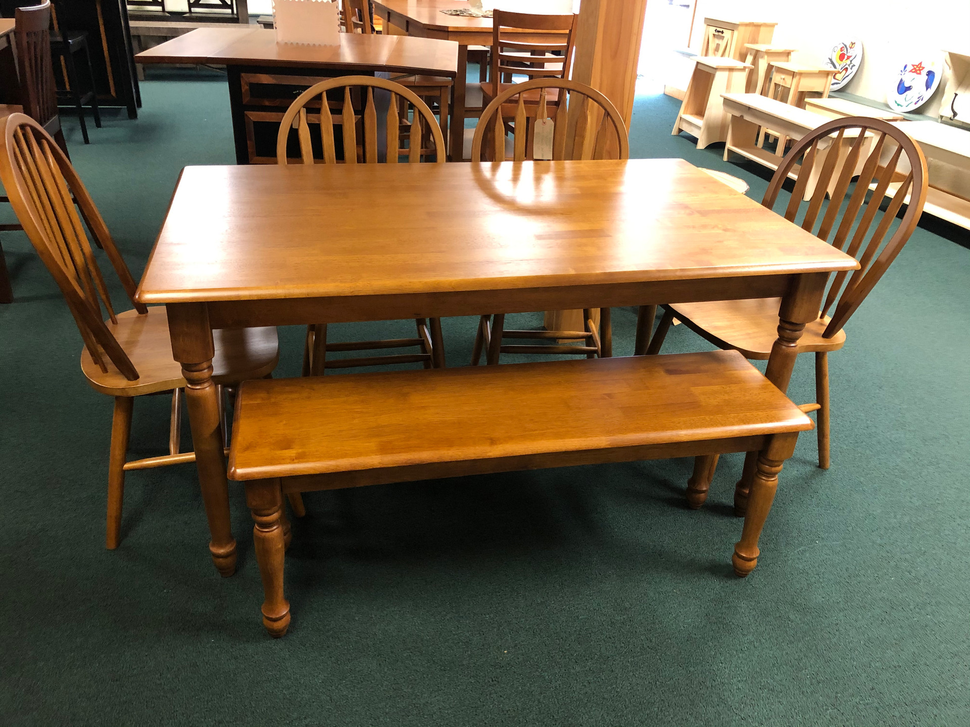 Farmhouse Table w/ 4 Chairs and Bench