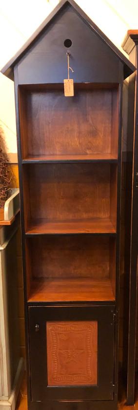 Birdhouse Style Bookcase w/Tin Cabinet