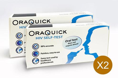 2盒優惠裝 - Oraquick HIV自我檢測套裝(2套)