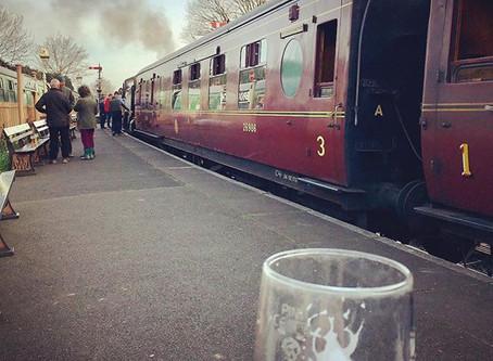 Enjoying a Beer at the Station!