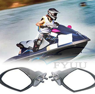 Pairs Motorboat Rearview Side Mirror For