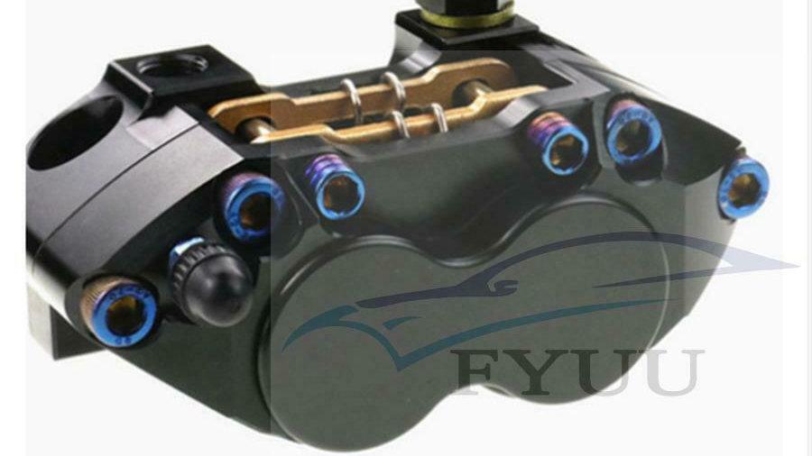 Motorcycle CNC Brake Caliper Brake Pump 82mm Mounting 4 Piston Radial For Yamaha
