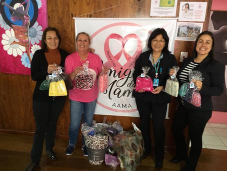 Lenços arrecadados durante a campanha Outubro Rosa são doados à ONG de apoio ao câncer de mama