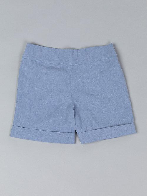 Short Bleu Printemps